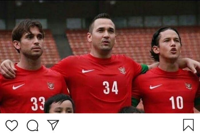 Mantan pemain timnas Indonesia, Jhonny van Beukering.