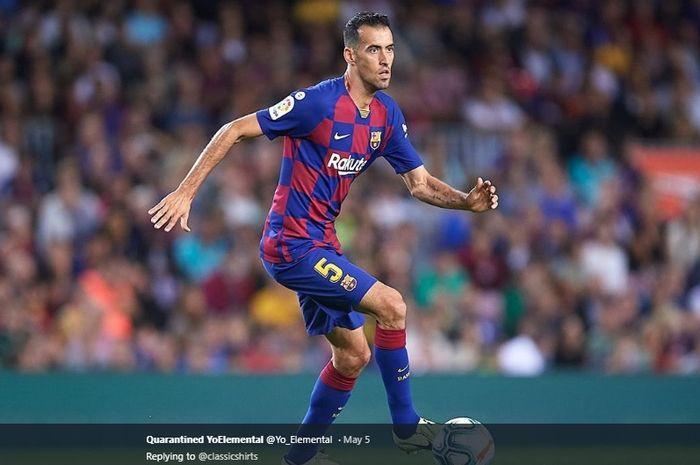 Gelandang bertahan milik Barcelona, Sergio Busquets.