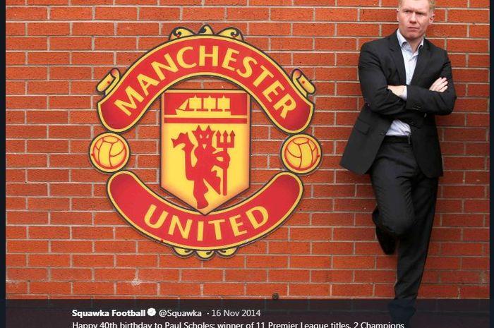 Gelandang legendaris Manchester United, Paul Scholes.