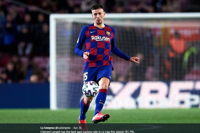 Bek tengah Barcelona, Clement Lenglet.