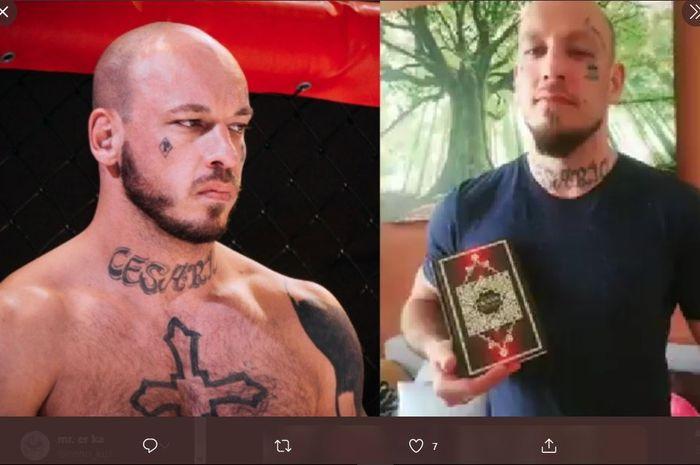 Petarung MMA Austria, Wilhelm Ott yang menjadi mualat dan memeluk agama Islam.