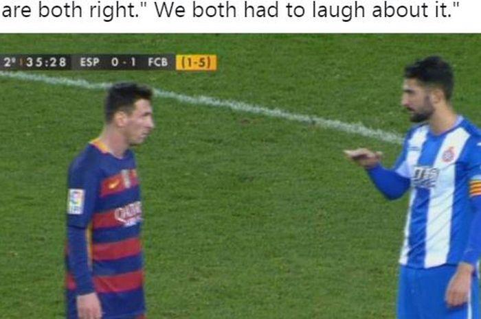 Jawaban Balasan Lionel Messi Saat Pemain Lawan Seb