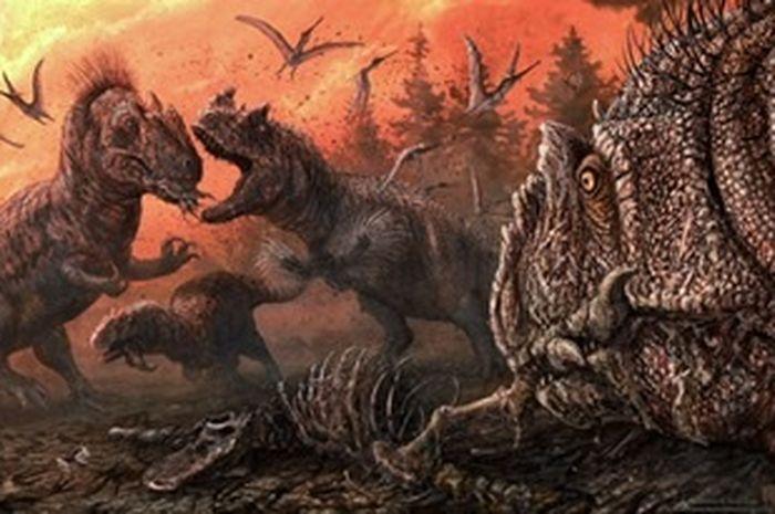 Kanibal Theropoda dalam ekosistem Jurassic Akhir