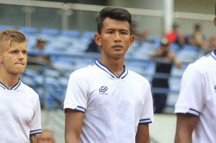 Pemain belakang PS Tira Persikabo, Didik Wahyu.