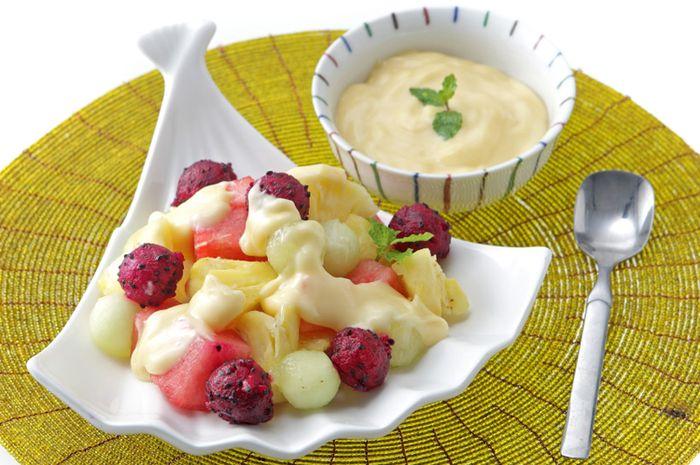resep salad buah saus jeruk enak camilan sehat  malam hari halaman  sajian sedap Resepi Makaroni Goreng dan Sedap Enak dan Mudah