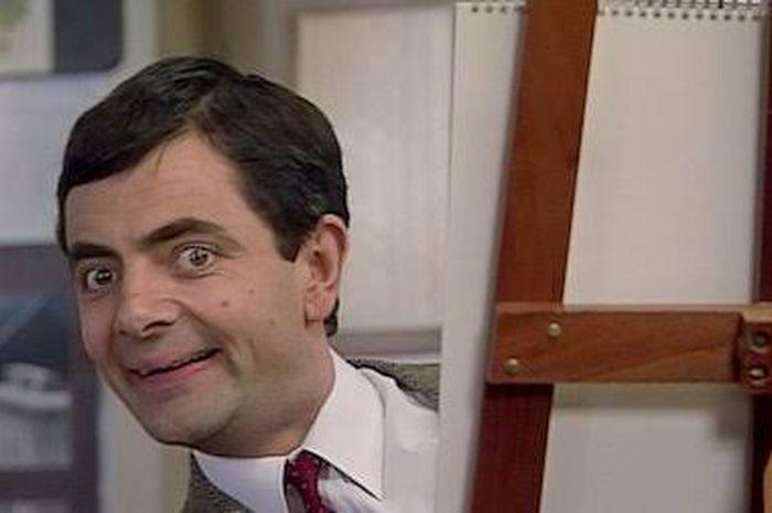 Rowan Atkinson pada salah satu adegan Mr Bean