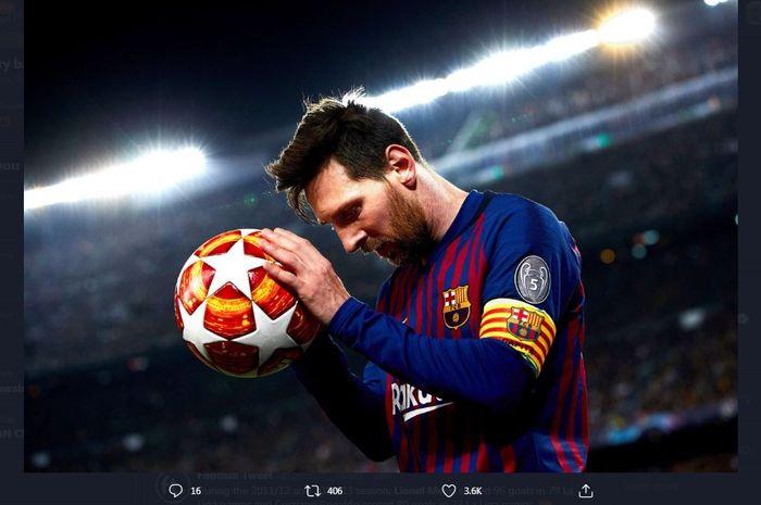 Lionel Messi, kapten Barcelona.