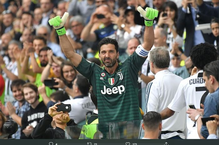 Kiper veteran Juventus, Gianluigi Buffon, diambang meraih enam gelar juara Coppa Italia jika timnya mampu menaklukkan Napoli di final,  Rabu (17/6/2020).