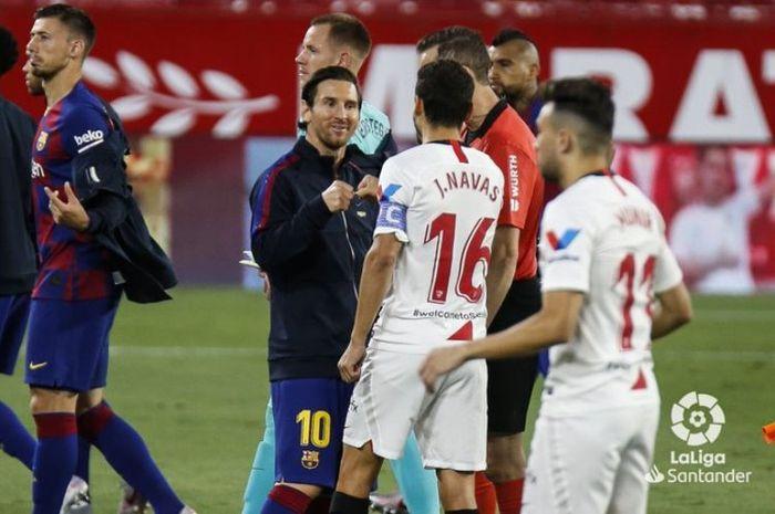 Skor 0-0 menutup pertandingan babak pertama antara Sevilla dan Barcelona di Ramon Sanchez Pizjuan, Jumat (19/6/2020) atau Sabtu dini hari WIB.