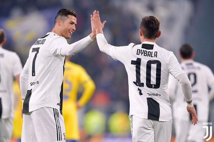 Duet penyerang Juventus, Cristiano Ronaldo dan Paulo Dybala.