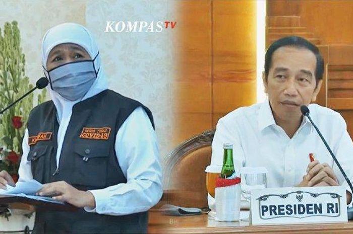 Jokowi Tantang Jawa Timur Tekan Angka Penyebaran V