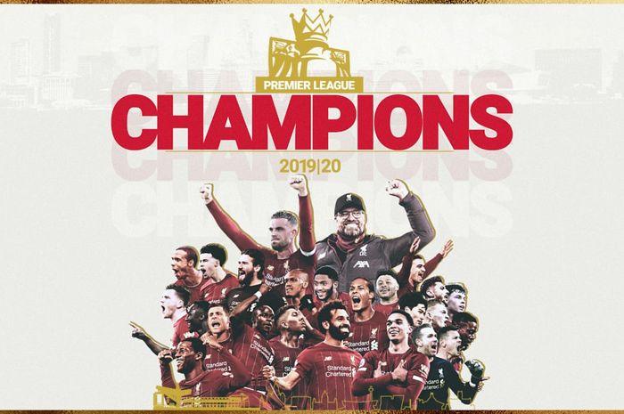 Liverpool juara Liga Inggris 2019-2020.