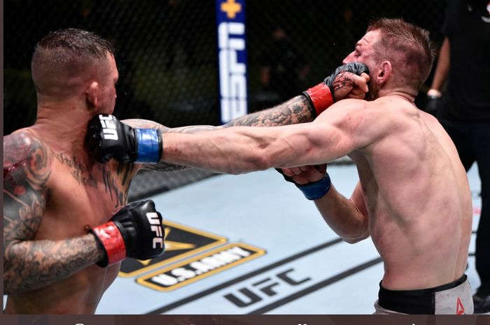 Duel sengit Dustin Poirier kontra Dan Hooker di UFC on ESPN 12, Sabtu (27/6/2020) di UFC APEX, Las Vegas.