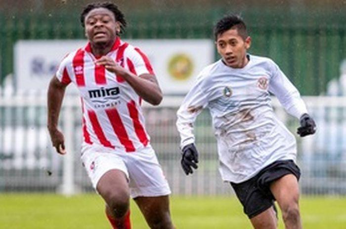 Pemain Persebaya U-16, Bramdani, saat mengikuti program Garuda Select.