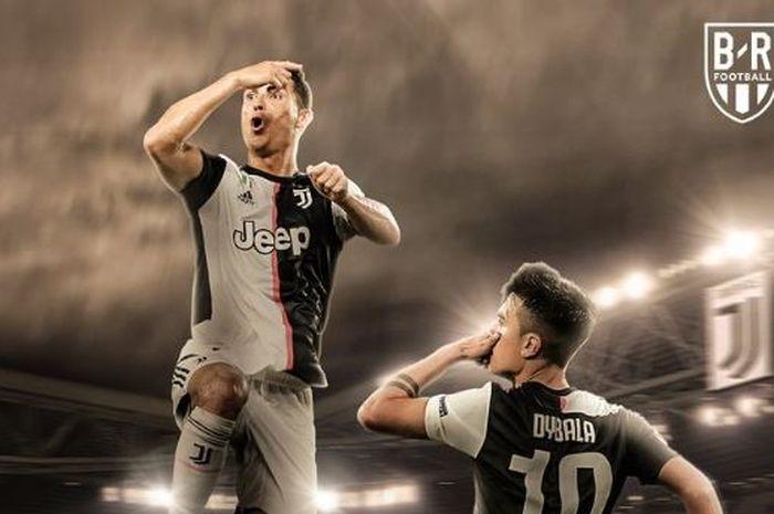Megabintang Juventus, Cristiano Ronaldo, membutuhkan tujuh tahun lagi untuk setara striker Lazio, Ciro Immobile.