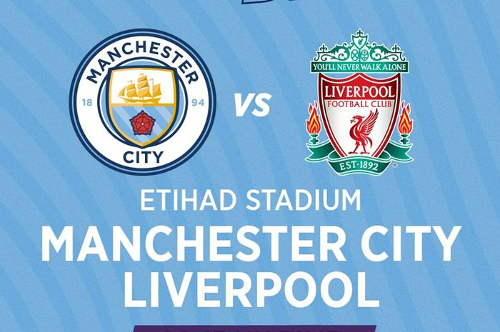 Cover laga antara Manchester City vs Liverpool.