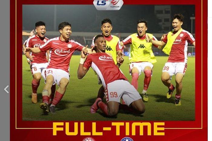 Momen Amido Balde bersama Ho Chi Minh City FC kena comeback menyakitkan dari lawannya di Liga Vietnam, SHB Da Nang FC, 29 Juni 2020