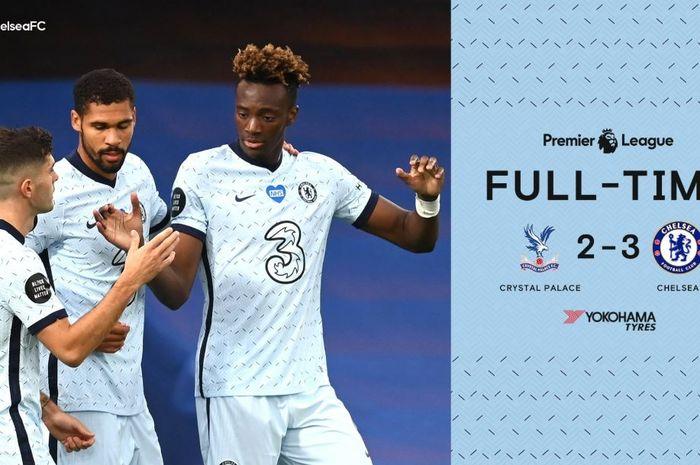 Chelsea berhasil menang 3-2 atas Crystal Palace.