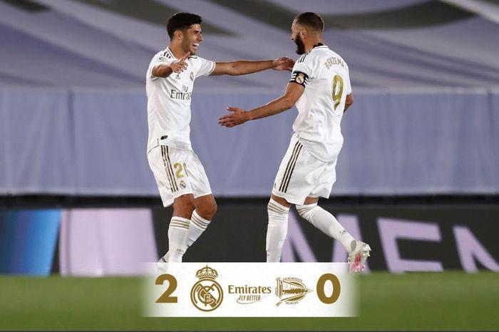 Real Madrid menang 2-0 atas Deportivo Alaves.