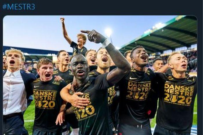 FC Midtjylland berhasil menjuarai Liga Super Denmark.