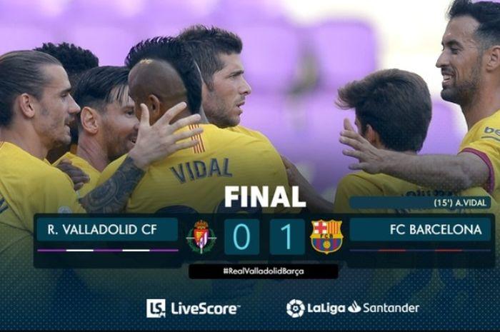 Barcelona mengalahkan Real Valladolid 1-0 di Camp Nou, Sabtu (11/7/2020).