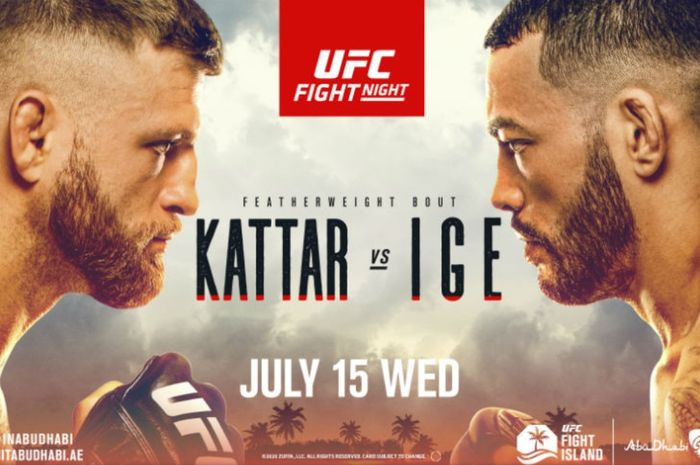 Poster UFC on ESPN: Kattar vs Ige.