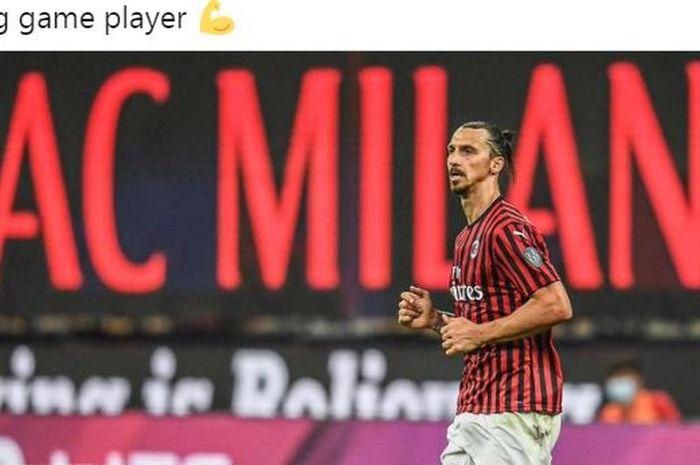 Striker AC Milan, Zlatan Ibrahimovic, menggebok kepala bek Parma sampai sempoyongan dalam laga Liga Italia. Ibrahimovic ternyata marah sehingga berubah menjadi singa.