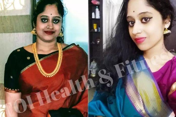 Sumitra Sridharan  berhasil turunkan berat badan hingga 25 kg dalam satu tahun.