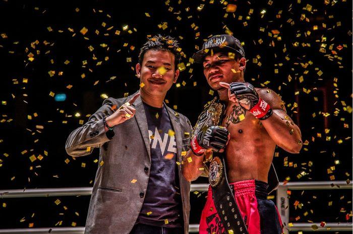 Rodtang Jitmuangnon, mempertahankan sabuk juara di ONE Championship: No Surrender, Jumat (31/7/2020) di Bangkok, Thailand.