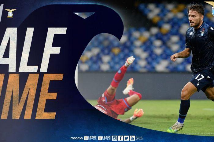 Babak pertama Napoli vs Lazio masih imbang 1-1.