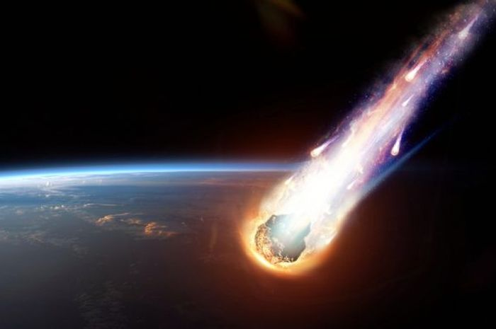 Ilustrasi jatuhnya meteorit.