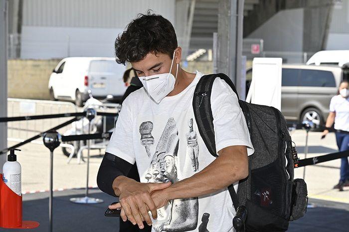 Tangan marc Marquez yang cedera