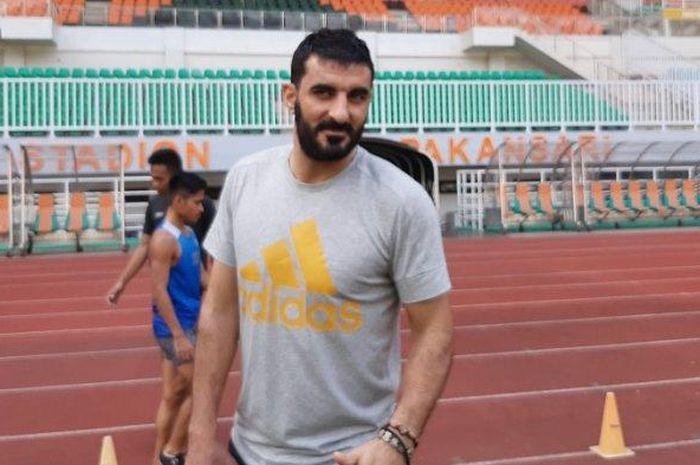 Pemain asing Tira Persikabo, Artyom Filiposyan saat mengikuti latihan bersama.