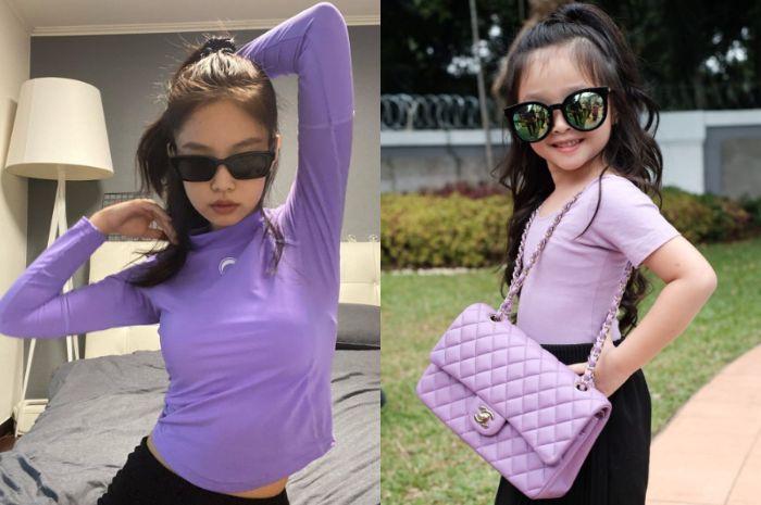 Lagi-lagi Dibilang Mirip Jennie Blackpink, Cantiknya Thalia Putri Onsu Tampil Cetar dengan Cat Rambut Warna Ungu, Netizen: Jennie Kecil, Cantik Banget