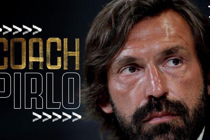 Tampilan di Twitter resmi Juventus mengumumkan pelantikan Andrea Pirlo sebagai pelatih baru menggantikan Maurizio Sarri.