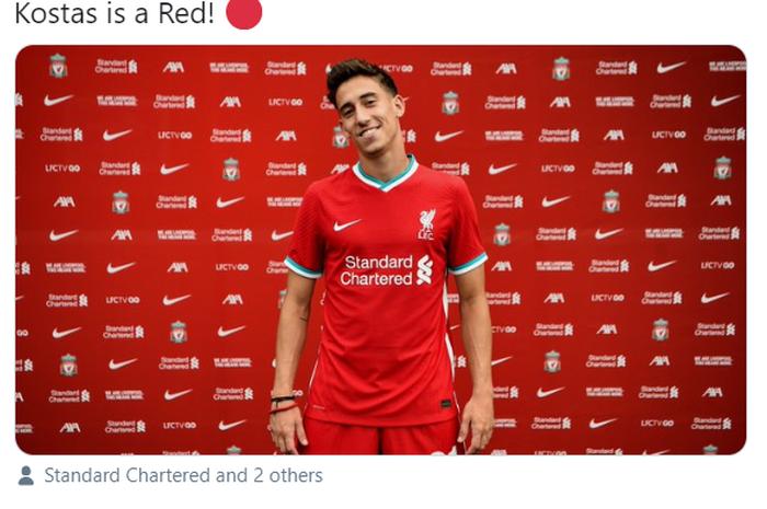 Pemain baru Liverpool, Kostas Tsimikas.