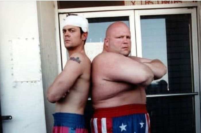Johnny Knoxville dan Butterbean.
