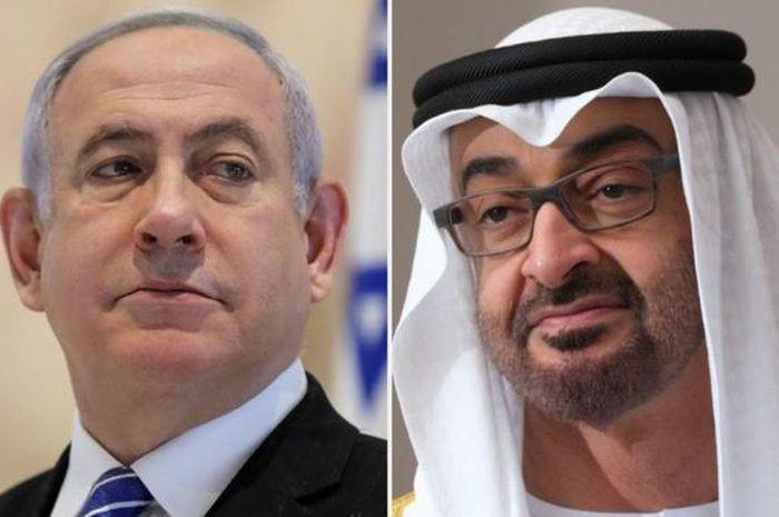 Benjamin Netanyahu dan Pangeran Mohammed Al Nahyan menjadi perantara perjanjian dengan bantuan AS.