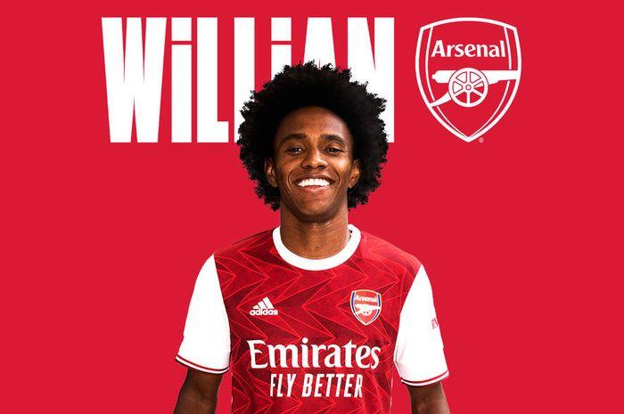 Willian Borges resmi ke Arsenal