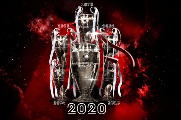 Bayern Muenchen juara Liga Champions untuk ke-6 kalinya.