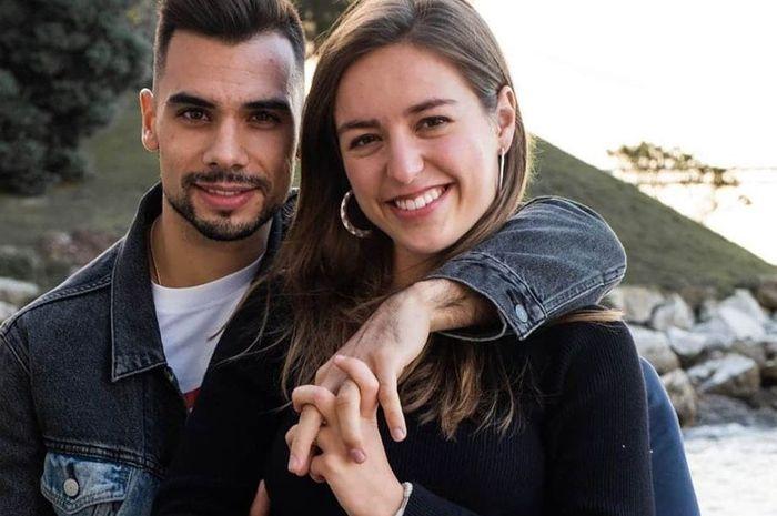 Miguel Oliveira bersama Andreia Pimenta.