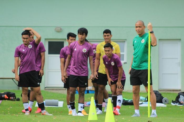 Skuad timnas U-19 Indonesia saat menjalani Pemusatan Latihan (TC) di Kroasia.