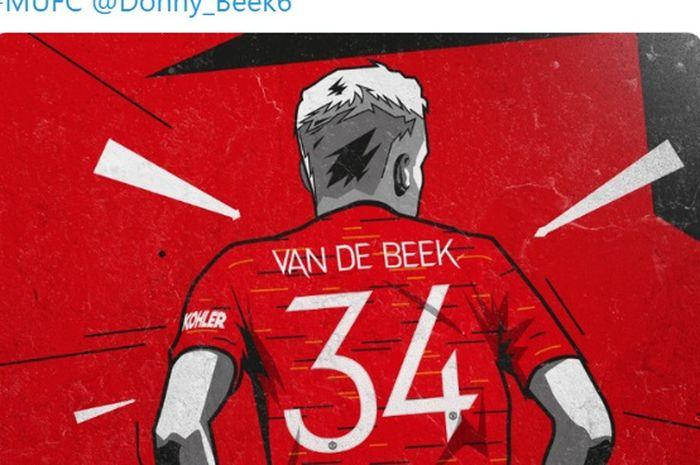 Donny van de Beek secara resmi akan mengenakan jersey dengan nomor punggung 34 di Manchester United.