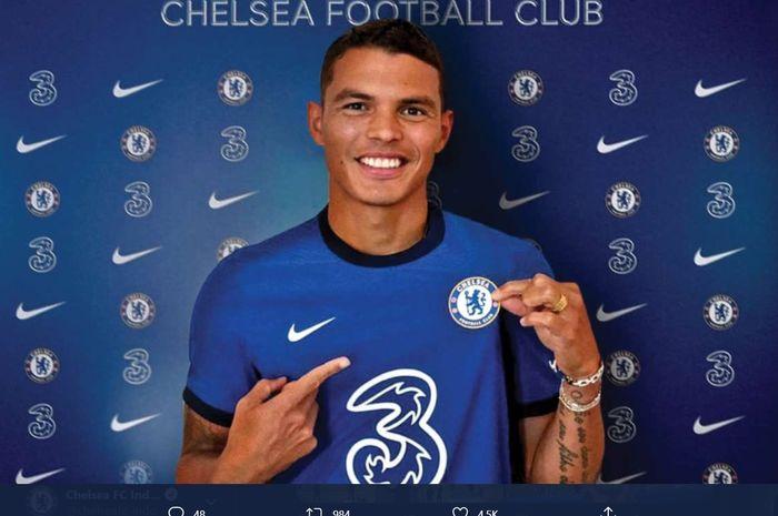Bek baru Chelsea, Thiago Silva.