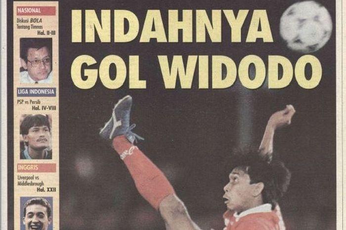 Media Asing Sebut Gol Widodo C Putra di Piala Asia 1996 Terbaik Sepanjang Masa