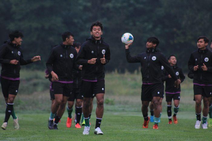 Pemain timnas U-19 Indonesia saat sedang menjalani pemusatan latihan (TC) di Kroasia.