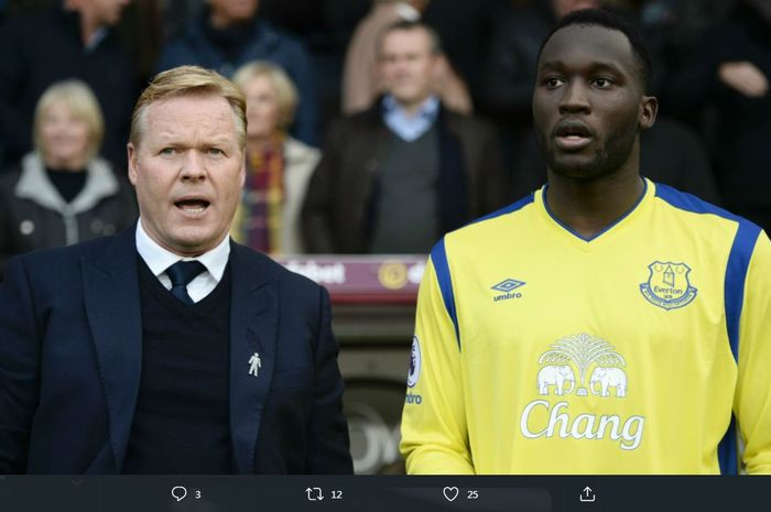 Romelu Lukaku dan Ronald Koeman saat masih sama-sama di Everton.