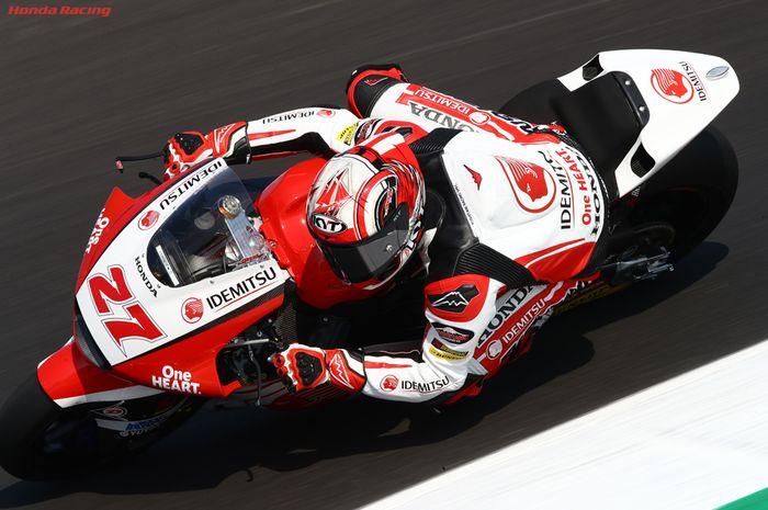 Pembalap Indonesia yang berkiprah di Moto2, Andi Farid Izdihar atau Andi Gilang.
