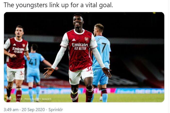 Eddie Nketiah dan Dani Ceballos yang menjadi penentu kemenangan Arsenal Hasil Liga Ingggris - Pekan Lalu Berkelahi, Kini 2 Pemain Arsenal Tentukan Kemenangan