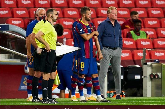 Miralem Pjanic menjalani laga debut bersama Barcelona dalam laga Joan Gamper, Sabtu (19/9/2020).